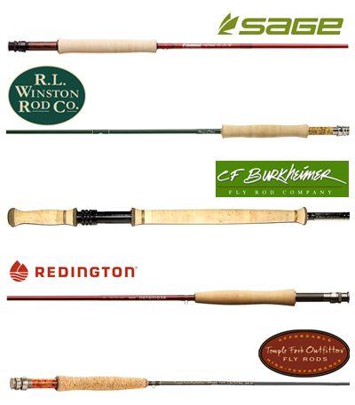 Fly Rods, Winston, Sage, CF Burkheimer, Redington, Temple Fork Outfitters, Orvis